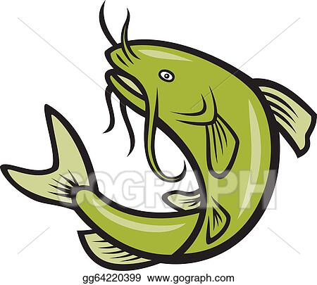 Clip Art Catfish Clipart catfish clip art royalty free gograph jumping retro fish cartoon
