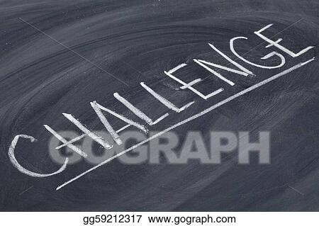 challenge word on blackboard