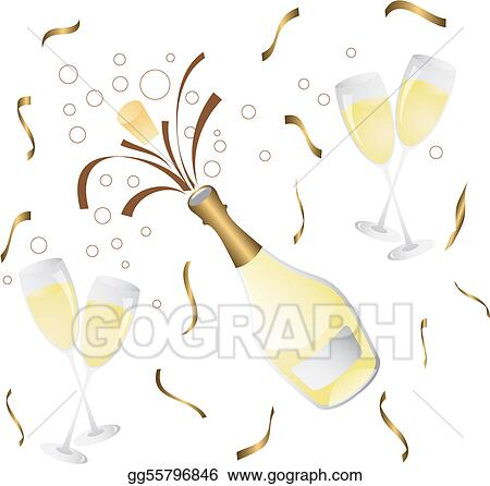 Champagne Clip Art - Royalty Free - GoGraph