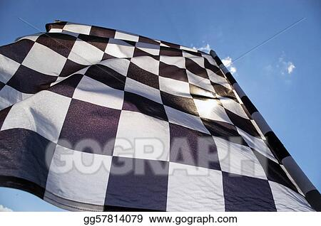 Checkered flag.