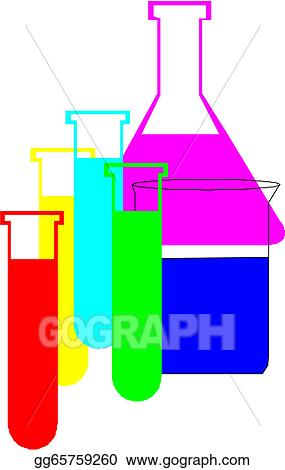Drawings chemical flasks stock illustration gg65759260