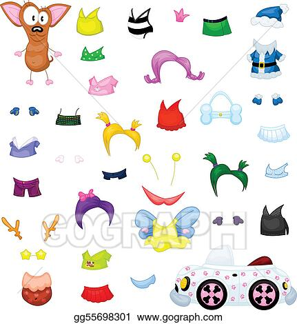 chihuahua clothes accessories boots and wigs for her Clip Art