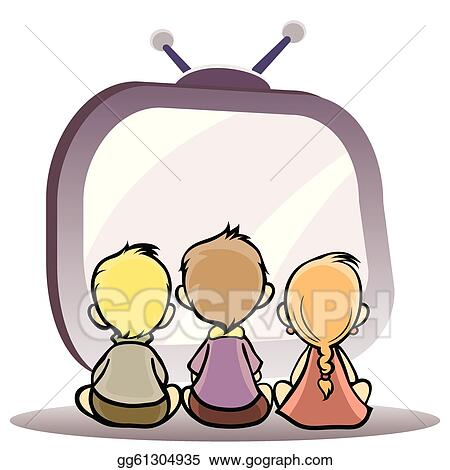 Watching Tv Clipart