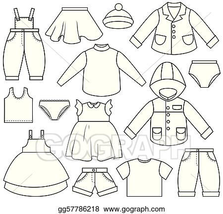 Vector Stock Childrens Clothing Clip Art