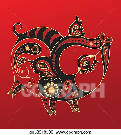 Chinese horoscope illustrations and clip art