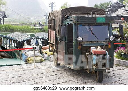 Chinese Motorised Three Wheel Transport 