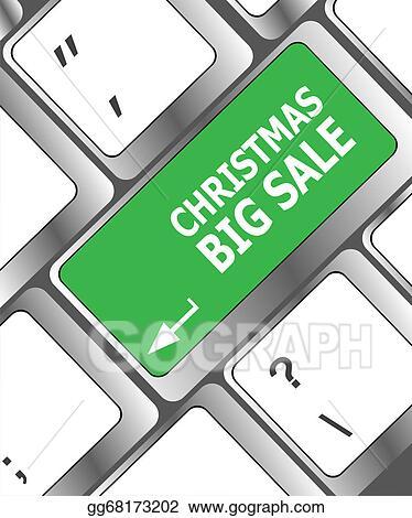 Stock Illustration - Christmas big sale on computer keyboard key ...