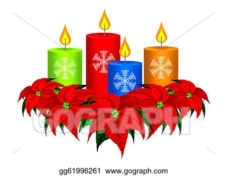 Four Candles Clip Art
