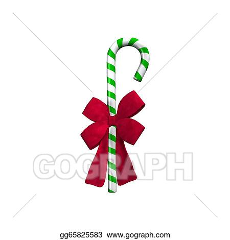Candy Cane Decoration Clip Art Image Decorated Christmas