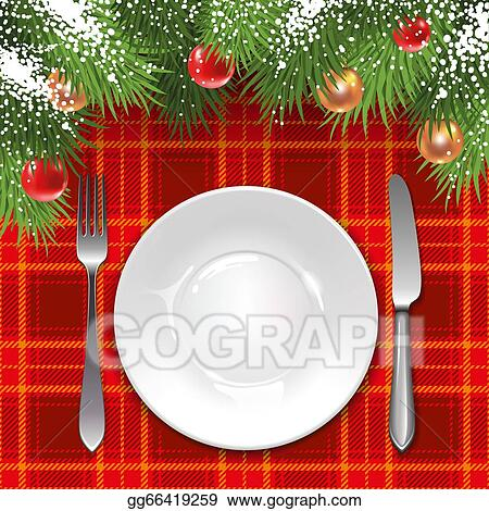 Vector Stock - Christmas menu template with holiday decorations and ...