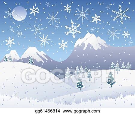 Snow Scene Clip Art - Royalty Free - GoGraph