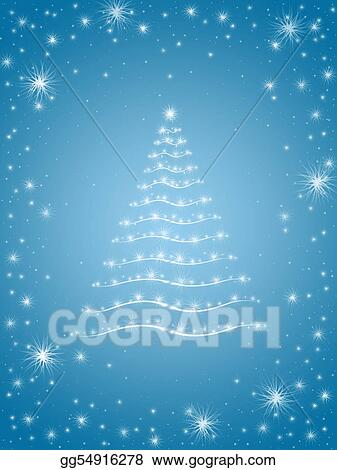 christmas tree in blue 2
