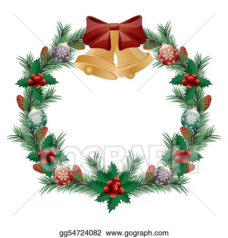 350 x 370 jpeg 37kB, Drawings - Christmas wreath isolated on white ...