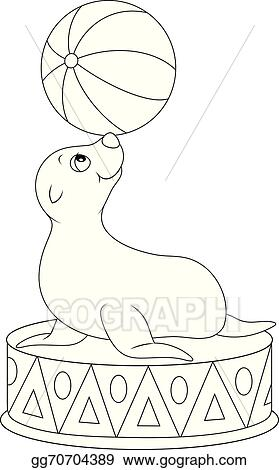 Seal Clip Art Black And White