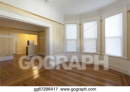 stock images clean empty studio apartment room stock photography gg67286417 gograph. Black Bedroom Furniture Sets. Home Design Ideas