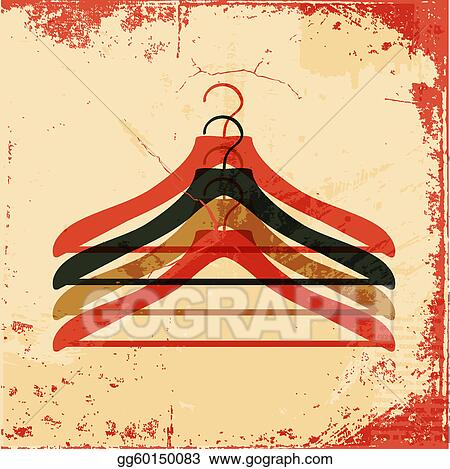 Stock Illustration - Clothes hanger retro poster. Clip Art gg60150083