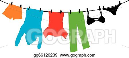 - Clothes ha...T Shirt Clip Art On Clothesline