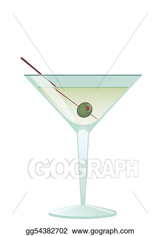 Cocktail Martini With Olive