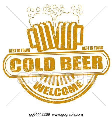 Stock Illustration Cold Beer Stamp Clipart Drawing