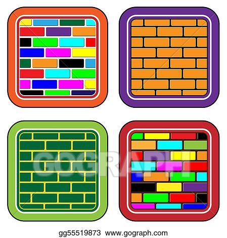 Color brick buttons for web device