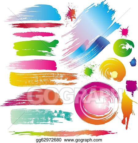 vector illustration color paint splashes and line Ice Cream Splat Vector Vector Splats SVG
