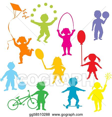 Children Playing Together Outside Clipart Images & Pictures - Becuo