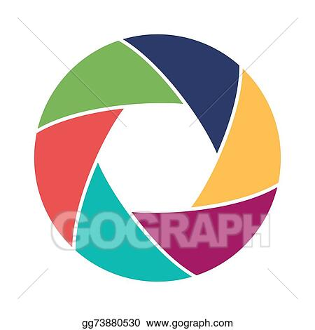Vector Clipart - Colorful camera shutter. vector illustration ...