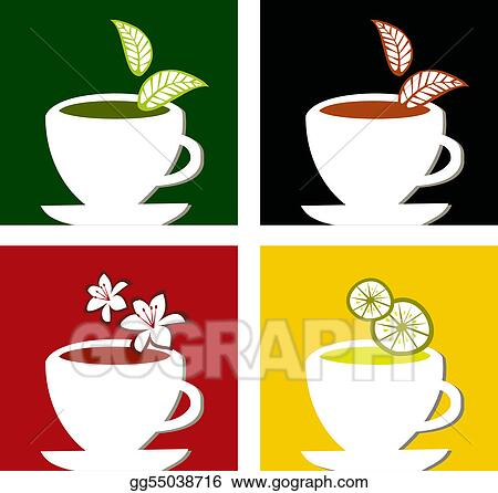 colorful square tea labels composition
