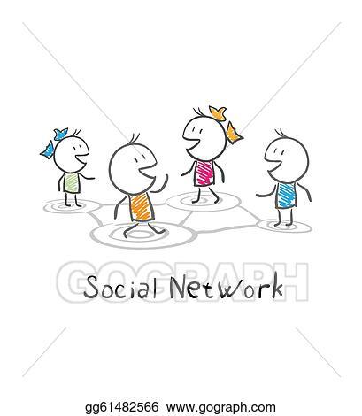 Illustration of the social network clipart illustrations gg61482566