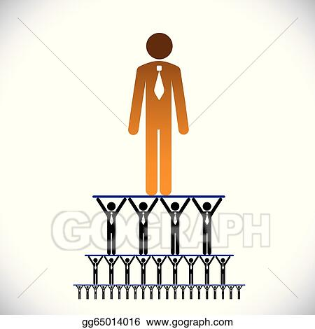 Corporate Hierarchy Clip Art - Royalty Free - GoGraph