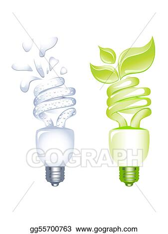 Concept of Energy saving bulb