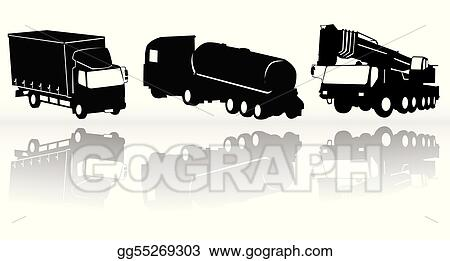 Stock illustration construction vehicles vector collection clip