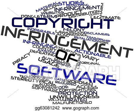 Stock Illustration - Copyright infringement of software. Clipart ...