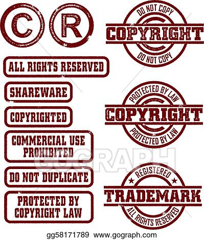 Clip Art Vector - Copyright/trademark stamps. Stock EPS gg58171789 ...