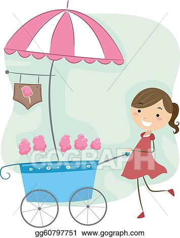 Cotton Candy Clip Art - Royalty Free - GoGraph
