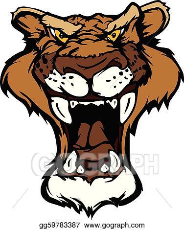 Cougar Clip Art - Royalty Free - GoGraph