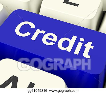 Credit Key Representing Finance Or Loan For Purchases