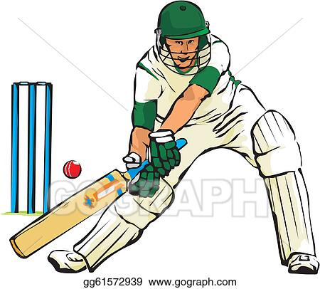 Clip Art Vector - Cricket - bat and ball game. Stock EPS ...