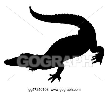 Cute Alligator Silhouette