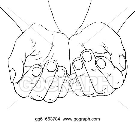 Hands Cupped Clip Art - Royalty Free - GoGraph