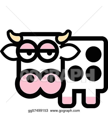 Vector Stock - Cute cartoon cow. Clipart Illustration gg57499153 ...