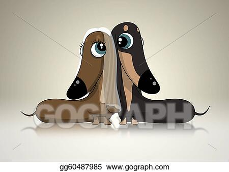 Dachsund Bridal Couple