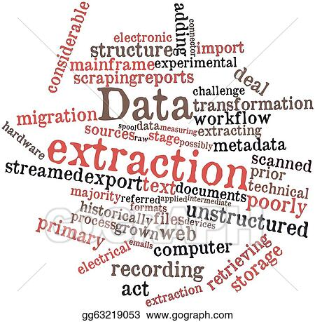 Drawings - Data extraction. Stock Illustration gg63219053 - GoGraph