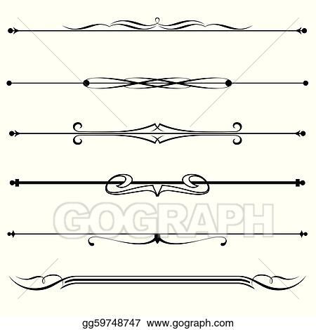 Vector Illustration - Decorative elements, border and page rules ...