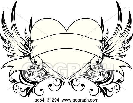 decorative heart emblem