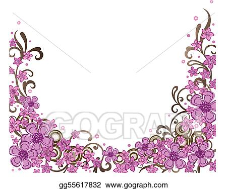 Decorative Pink Border Clip Art Decorative pink floral border