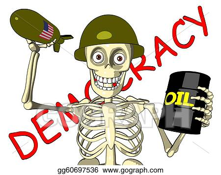 Democracy or oil - U.S. soldier
