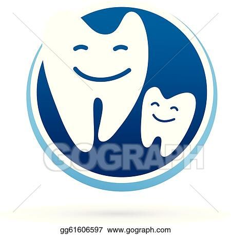 EPS Illustration - Dental clinic vector icon - smile teeth ...