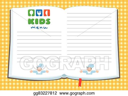 to go menu template free - vector illustration design template background for kids