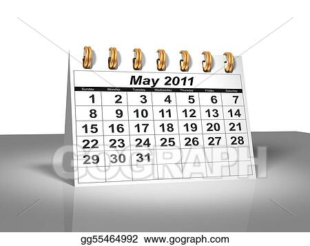 Desktop Calendar. May, 2011.